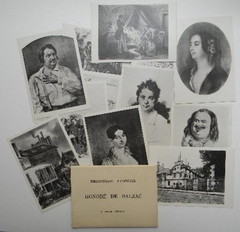HONORE DE BALZAC. 12 cartes postales.. [BALZAC (Honoré de)]