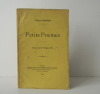 PETITS POEMES. Préface de M. Philippe Huc. . DEREME (Tristan)