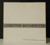 CHRISTINE BOUMEESTER. 1904-1971. Catalogue de l'exposition en hommage à l'artiste disparue en 1971. Moderne Galerie des Saarland-Museums Saarbrücken ...