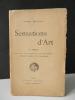 SENSATIONS D'ART.  3ème série. Lithographie originale de Fantin-Latour. . DENOINVILLE (Georges).