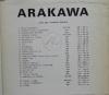 ARAKAWA. Affiche-catalogue de l'exposition présentée à l'A.R.C. en 1970.. ARAKAWA.