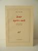 JOUR APRES NUIT. Lettre-préface de René Char.. PENARD (Jean)
