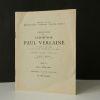 CATALOGUE DE L'EXPOSITION PAUL VERLAINE.. [VERLAINE]  LEAUTAUD (Paul), SUARES (André)