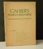 CAHIERS FRANCO-ALLEMANDS N° 6 / 1937. CAHIERS FRANCO-ALLEMANDS N° 6 / 1937