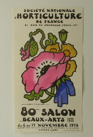 AFFICHE DU SALON DES BEAUX-ARTS 1978.. MERCIER (Jean-A.)