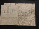 Lettre autographe en date du 22 septembre 1760 envoyée par Joseph Bernard d'Inguimbert  . Joseph Bernard d'Ingimbert