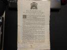 Mandement de monseigneur l'évêque et comte de Valence au sujet des français esclaves des turcs. 5 janvier 1716. Jean de Catellan