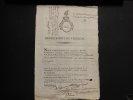 Certificat de non inscription sur la liste des émigrés Avignon An 2. Collectif