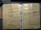 Manuscrit brouillon de 18 pages in-4 d'une intervention à Paris (Sociétés savantes)faite le 9 Octobre 1910. Second manuscrit d'un discours intitulé ...