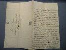 Correspondance privée adressée à la Marquise de Mons et à son mari; habitants le village LES PLANS, canton de Saint- Martin-de-Valgalgues (proche de ...