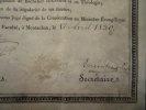 Certificat d'aptitude à la Consécration au Ministère Evangélique. TOULOUSE, Faculté protestante de Montauban.. [Henri BLANC](Diplômé)