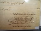"""Petite lettre autographe signée adressée à """"Monsieur le Comte"""" datée du 20 Octobre 1823. René-Charles Guilbert de PIXERECOURT (L.A.S)"""