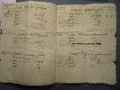 Liève n°4 des Censives du Mazel (1781-1786) Manuscrit de 12 pages in-4 (6pp. blanches). LE MAZEL [Notre-Dame-de-la-Rouvière]