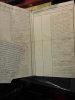 Etude concernant la diminution dans les débits de sels des salins impériaux.. (Salins impériaux]  Aigues Mortes  Document manuscrit