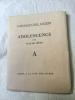 Adolescence - l'alphabet des lettres . Claude Anet