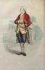 Gravure sur acier coloriée et gommée à l'époque issue du Plutarque Français (1835) Beaumarchais. Caron de Beaumarchais . .