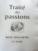 Traité des passions. René Descartes [C.P. Josso]