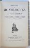 Recueil de monologues dits par les frères Coquelin. Treizième édition. E. Baneux / G. Briet / . Cloquemin / A. Delilia / E. Depré / E. Deutsch / J. ...