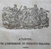 Le Lycée Armoricain. Second volume 1823 (année complète). [Edouard Richer / Victor Hugo / Miorcec de Kerdanet / Frédéric Cailliaud / Blanchard de la ...