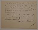 Lettre autographe signée à l'éditeur Decaux. Theuriet André .