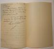 Lettre autographe signée à Antoine de Latour. Laurent-Pichat Léon .