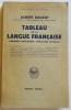 Tableau de la langue française. DAUZAT (Albert)