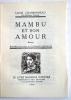 Mambu et son Amour..  CHARBONNEAU (Louis).
