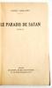 Le Paradis de Satan..  ARMANDY (André).