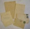 2 lettres autographes, 3 pages + 3 cartes de visite. Enveloppes timbrées jointes..  GERVAIS (Alfred).