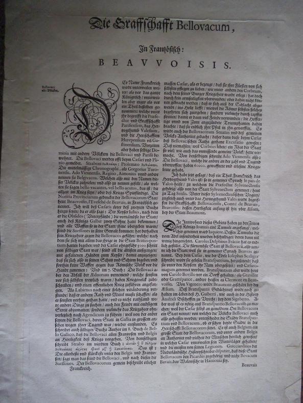 Comitatus Bellovacum vernaculé BEAUVAIS . BLAEU Johannes