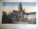 Vue de l'église de St Ouen à Rouen prise du jardin des plantes..  anonyme