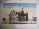 Vue de la cathédrale de Milan.. anonyme