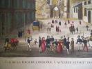 Vue de l'église de la tour de l'horloge à Auxerre.. anonyme