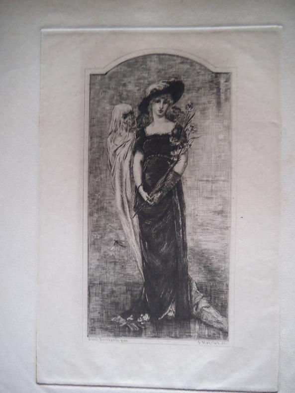 la jeune fille et la mort. HANRIOT Jules