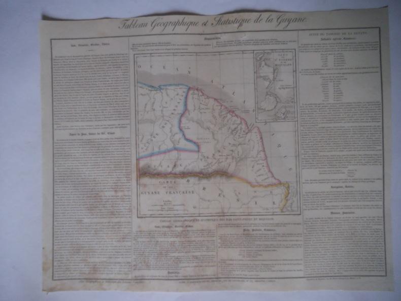 carte de la Guyane. . Collectif
