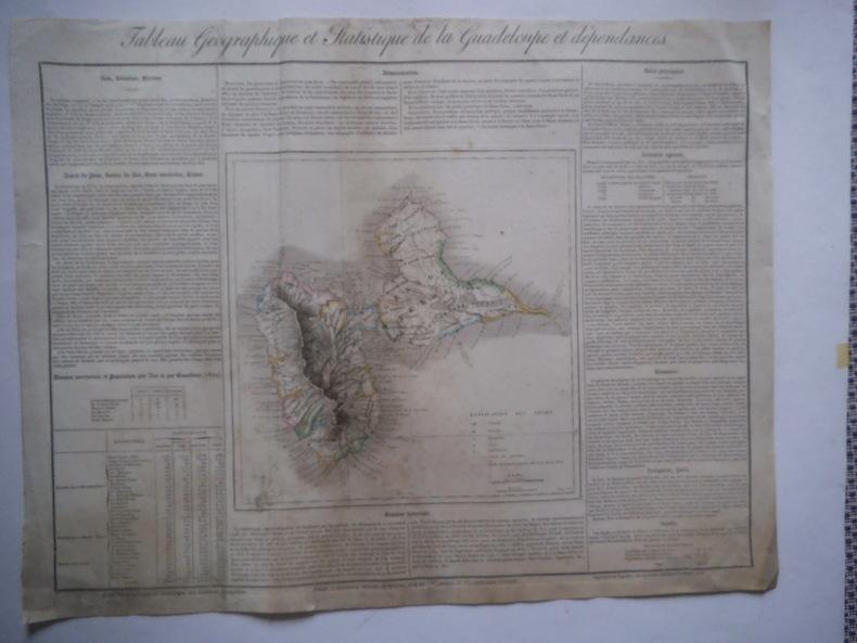 carte de la Guadeloupe et de ses dépendances.. Collectif