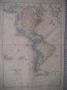Carte de l'Amérique actuelle . SCHNITZLER J.H