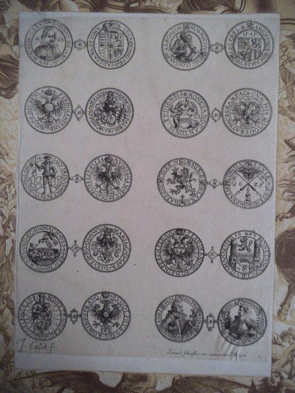 10 monnaies d'argent étrangères des 16ème et 17ème siècles, . CALLOT Jacques