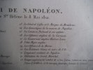 Convoi de Napoléon à l'île de Ste Hélène le 8 mai 1821 . anonyme