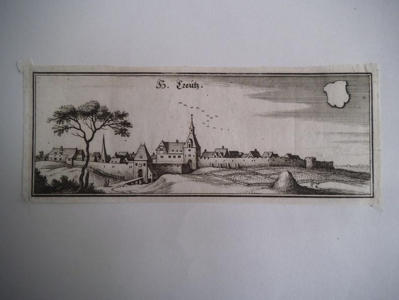 Vue de Creütz. MERIAN Mathäus.