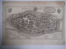 Plan de la ville de Mulhouse  . MERIAN Matthäus