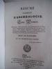 Résumé complet d'archéologie avec une introduction historique et terminé par un vocabulaire.. CHAMPOLLION-FIGEAC