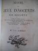 Recueil de jeux innocents de société. . LAMBERT J.J Mme