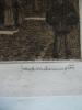 rue animée,eau-forte originale. ARMINGTON Milton Frank