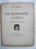 DE PROFUNDIS CLAMAVI. BOURGET Paul/OUVRE Achille