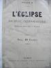 L'ECLIPSE  1871 . Collectif/L'ECLIPSE