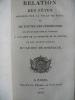 Relation des fêtes et cérémonies qui ont eu lieu à Paris à l'occasion de la naissance et du baptême de son altesse royale Mgr le Duc de Bordeaux.. ...