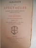 Almanach des spectacles pour l'année 1877. collectif