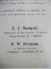Contre l'art anglais . (Futurisme)MARINETTI F.T et R.W NEVINSON