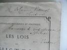 Les lois de l'histoire . BENLOEW Louis